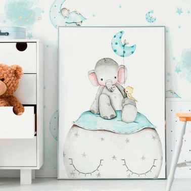 Lamina infantil Elefante azul