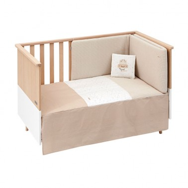 Colcha y protector cuna Sky Beige