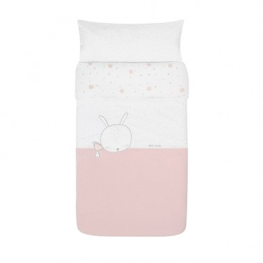 Funda nordica cuna Sleepy Rosa