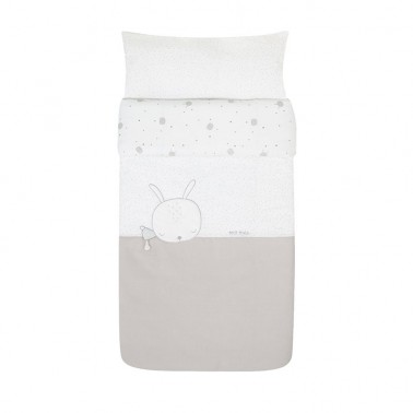 Funda nordica cuna Sleepy Gris