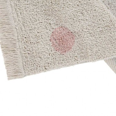 Alfombra lavable Hippy Dots Natural-Vintage Nude