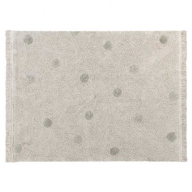 Alfombra lavable Hippy Dots Natural-Olive