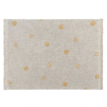 Alfombra lavable Hippy Dots Natural-Honey