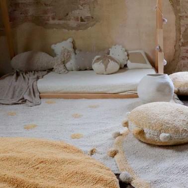 Alfombra lavable Hippy Dots Natural-Honey