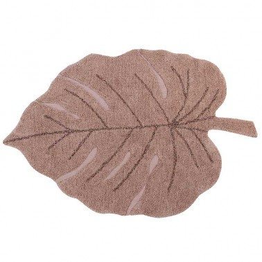 Alfombra lavable Monstera Vintage Nude