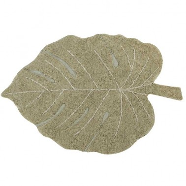 Alfombra lavable Monstera Olive