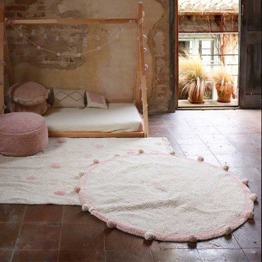 Alfombra lavable Bubbly Natural-Vintage Nude