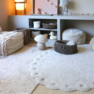 Alfombra lavable Pinecone Ivory