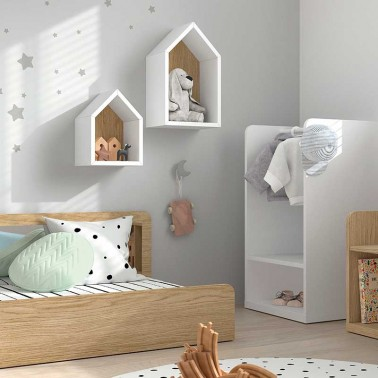 Estante book casita Mood Ros Mini