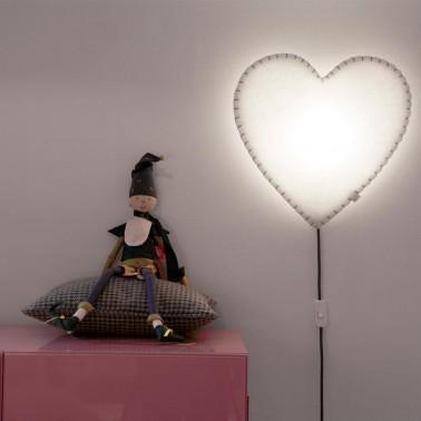 lampara de pared corazon