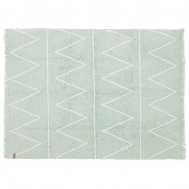 alfombra lavable hippy mint de lorena canals