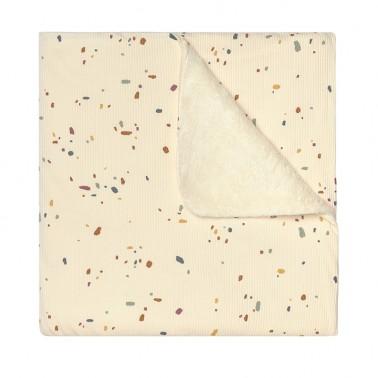 Manta Pelo Confetti Ivory