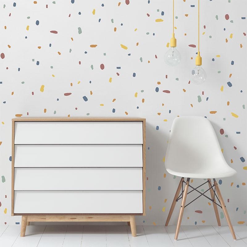 Vinilo infantil Confetti Ivory