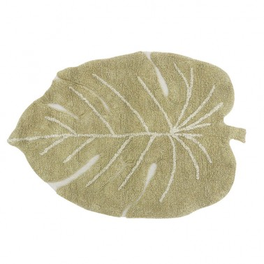 Alfombra lavable Mini Monstera Olive Lorena Canals