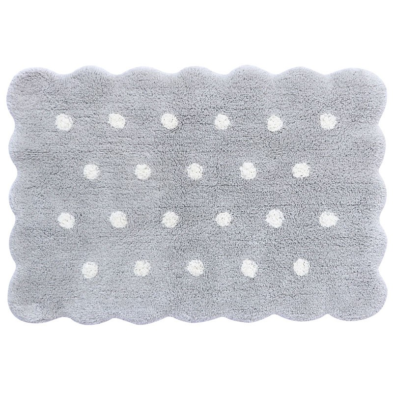 Alfombra lavable Mini Biscuit Pearl Grey Lorena Canals