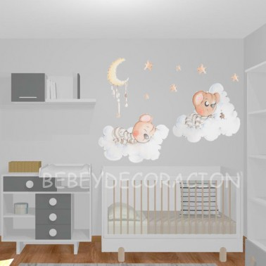 Vinilo infantil Entre nubes