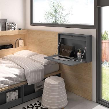Mesa escritorio plegable de pared