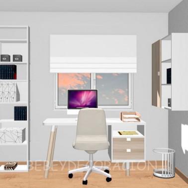 Mesa escritorio Recta con cajones