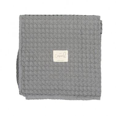Manta crochet Gris Marengo