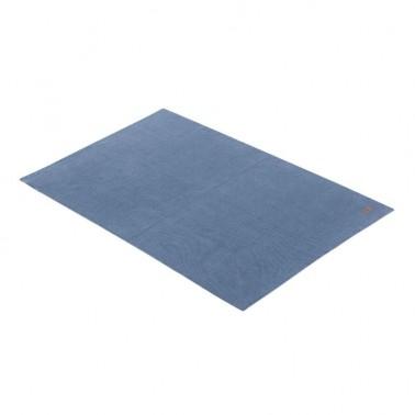 Manta algodon bebe Basic Azul