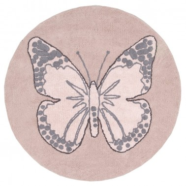 alfombra lavable butterfly nude de lorena canals