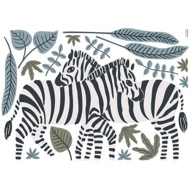 Vinilo Sticker Tanzania Zebras