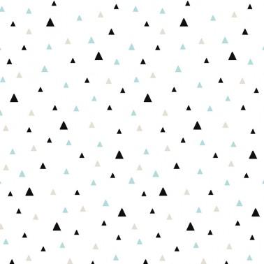 Papel pintado Triangulos Negro y Menta