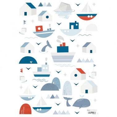 Pack Vinilo Barcos y casas