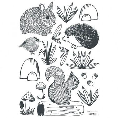 Pack Vinilo Animals Forest