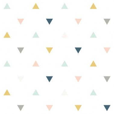 Papel pintado Triangulos Gris y Rosa
