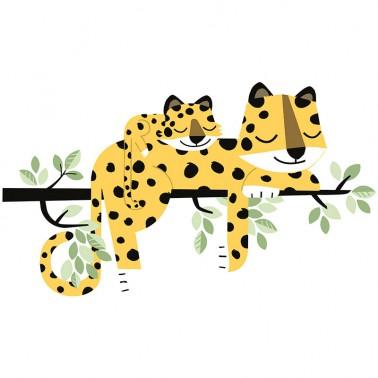 Vinilo Foliage Leopardos