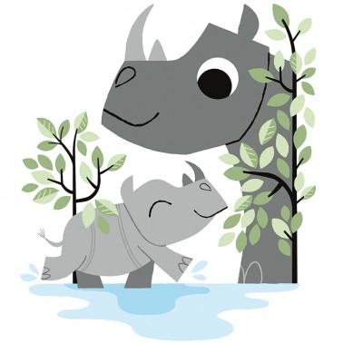 Vinilo Foliage Rhinos