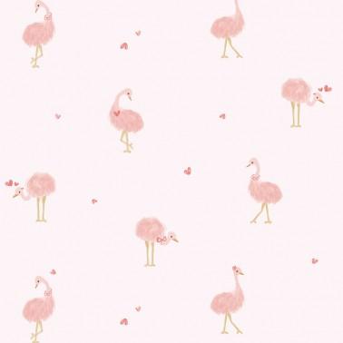 Papel pintado Avestruces