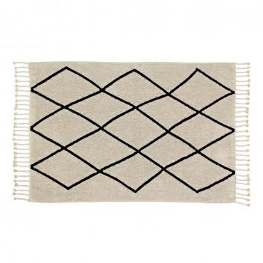 alfombra lavable bereber crema home lorena canals
