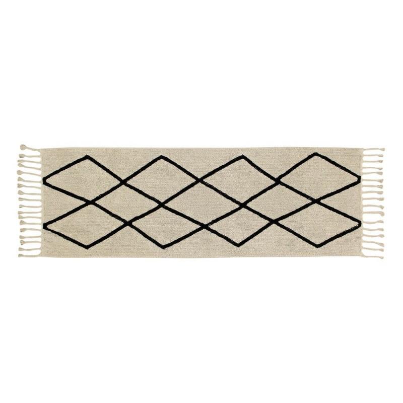 alfombra lavable bereber crema pasillo home lorena canals