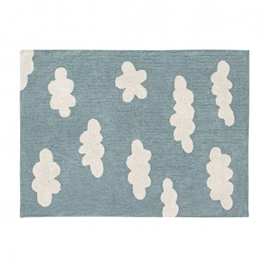alfombra lavable clouds vintage blue lorena canals