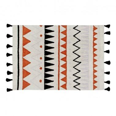 alfombra lavable azteca natural-terracota lorena canals
