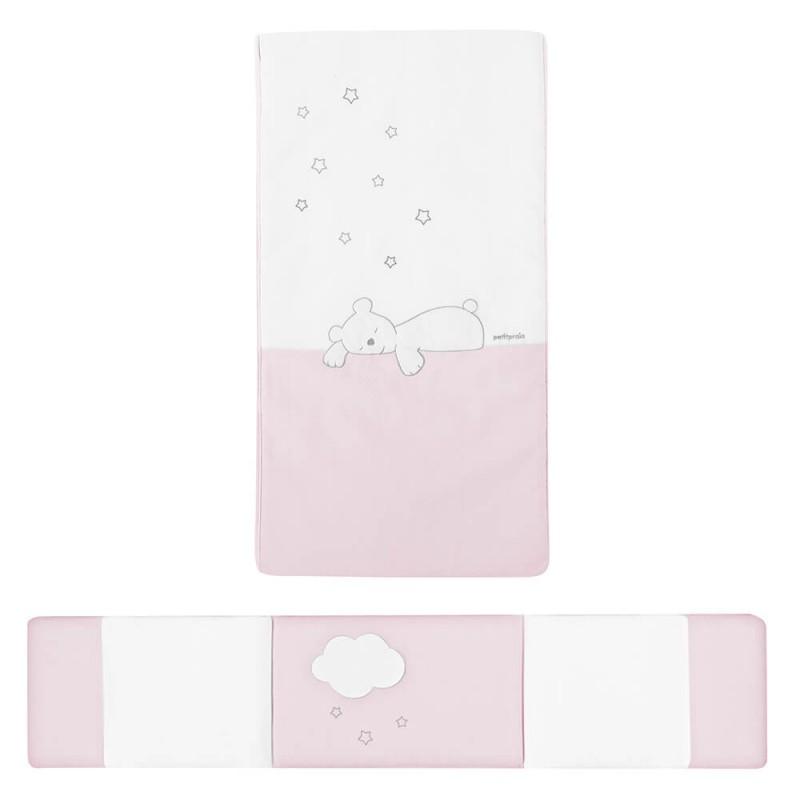 colcha y protector dream rosa petit praia
