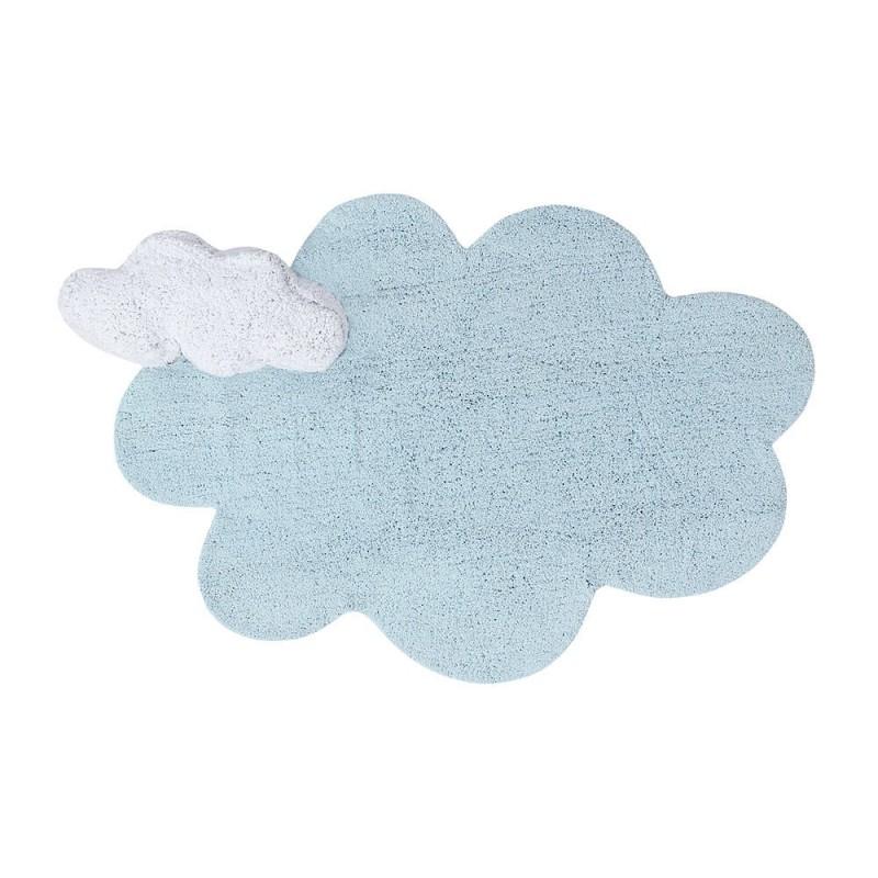 alfombra con cojin puffy dream azul lorena canals