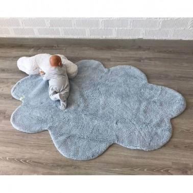 Alfombra con cojin Puffy Dream Azul