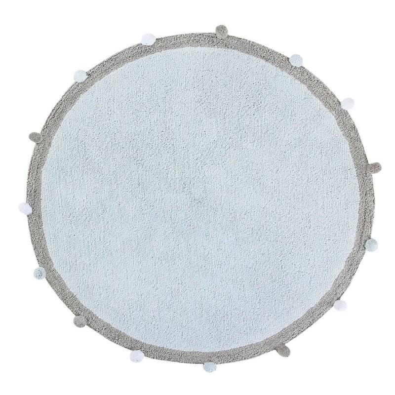alfombra lavable bubbly azul claro lorena canals