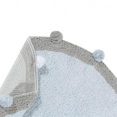 Alfombra lavable Bubbly Azul claro