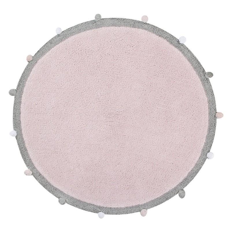 alfombra lavable bubbly rosa claro lorena canals
