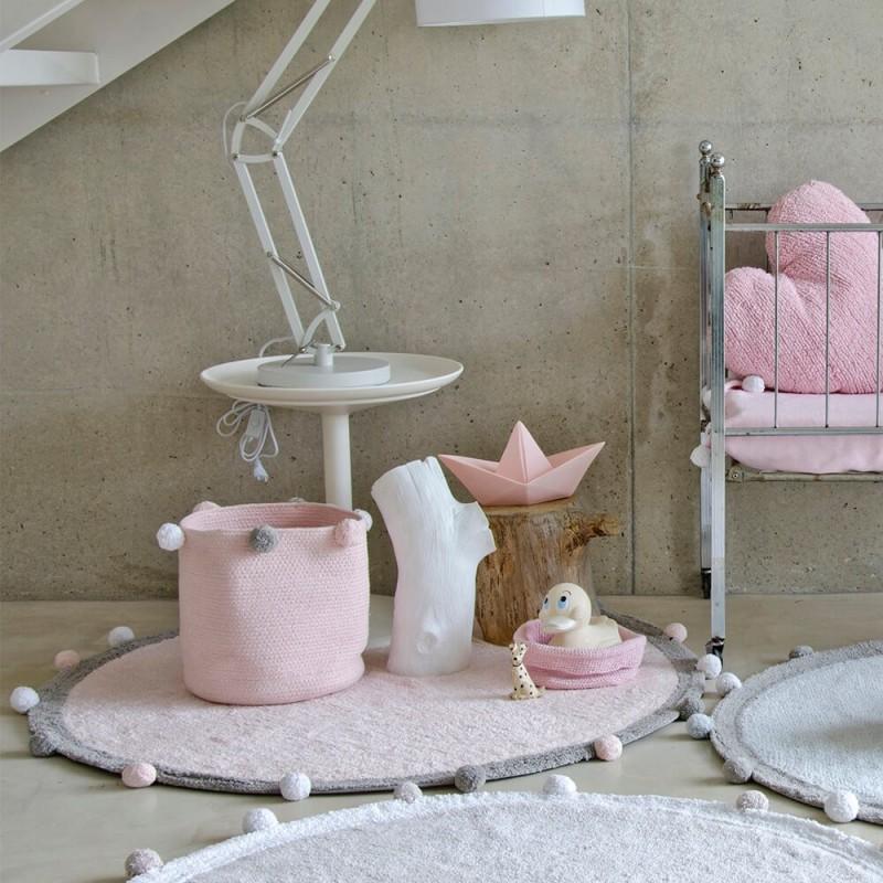 Alfombra lavable Bubbly Rosa claro
