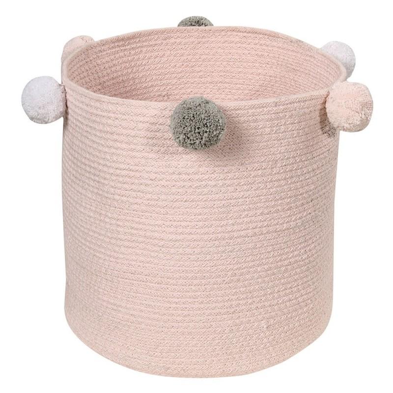 cesta de almacenaje bubbly rosa lorena canals