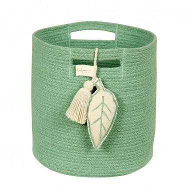 cesta de almacenaje leaf verde lorena canals