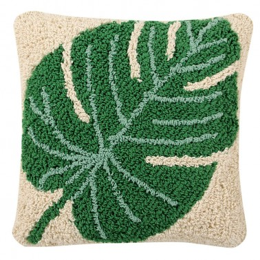 cojin lavable monstera lorena canals - bebeydecoracion