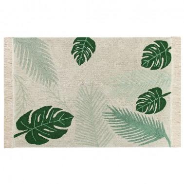 alfombra lavable tropical verde lorena canals