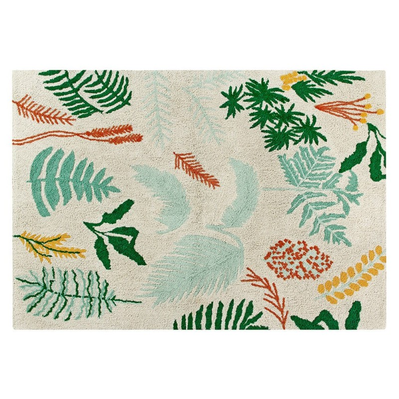 alfombra lavable botanic plants lorena canals