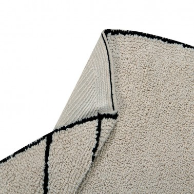 Alfombra Lavable Trace Beige Lorena Canals